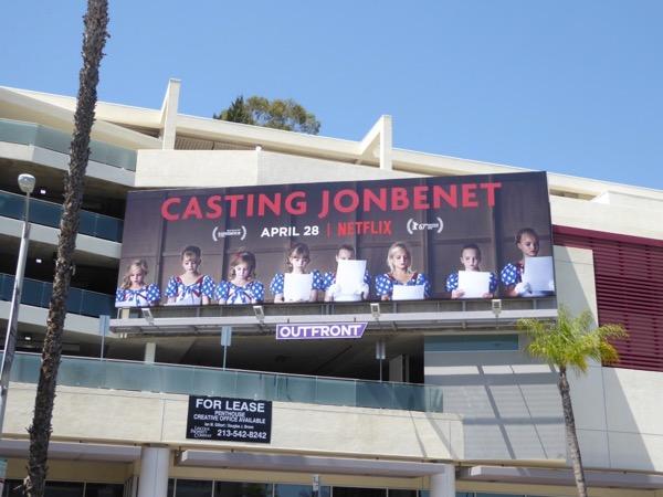 Casting JonBenet Netflix billboard