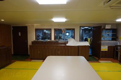 海底広域研究船「かいめい」の調理場