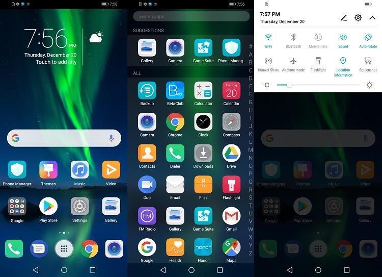 EMUI 8.2 Based on Android 8.1 Oreo