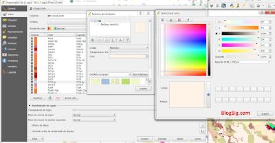 Colores HTML en QGIS
