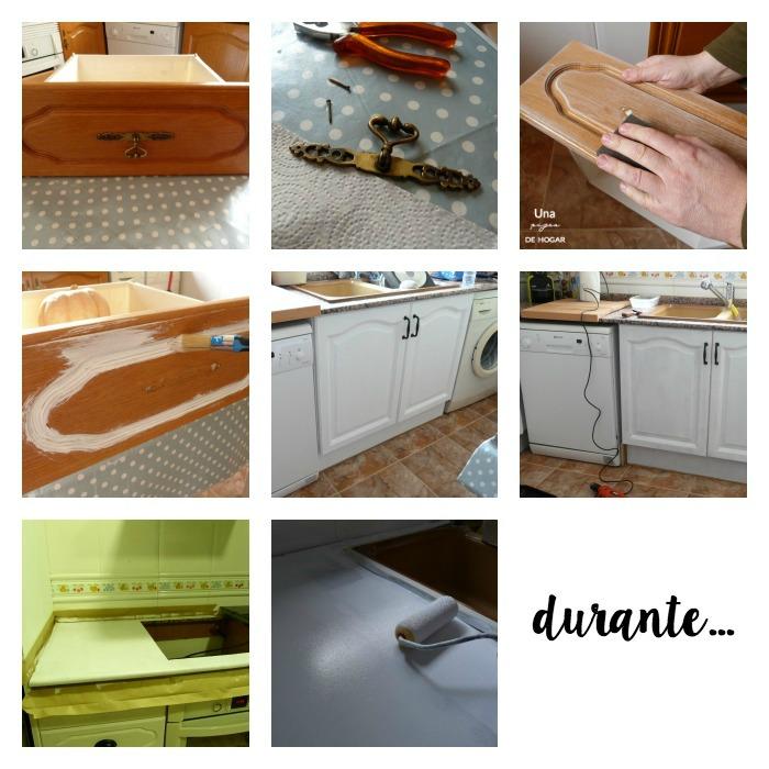 antes y después de una cocina sin obras, el proceso