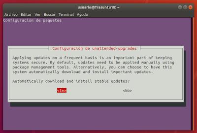 sudo dpkg-reconfigure -plow unattended-upgrades new version