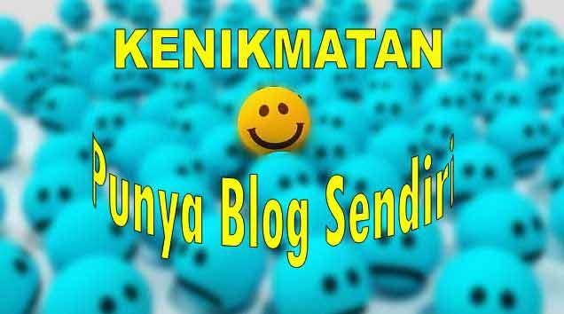 Kenikmatan Blogging