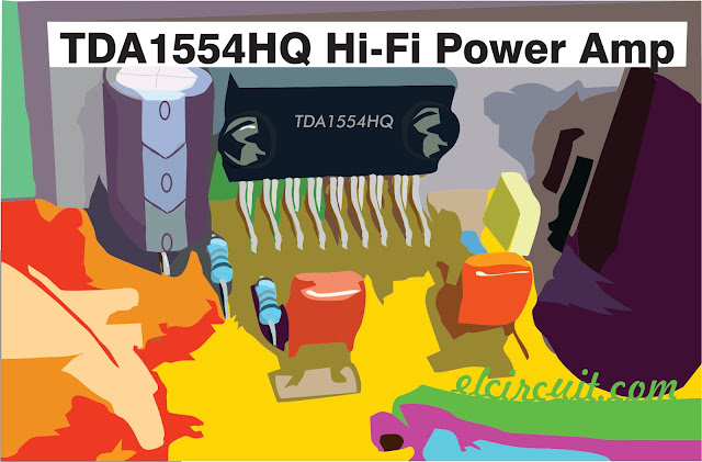 TDA1554HQ Hi-Fi Power Amp