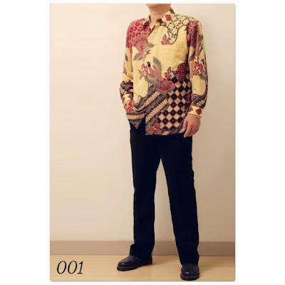 harga baju batik pria lengan panjang
