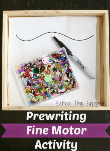 preschool pre-writing tray