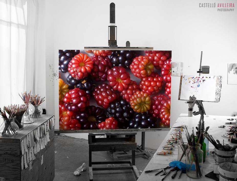 02-Berries-Antonio-Castelló-Avilleira-Visual-Art-with-Hyper-Realistic-Paintings-www-designstack-co