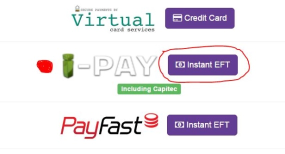 Click on the iPay option - Instant EFT - Hollywoodbets