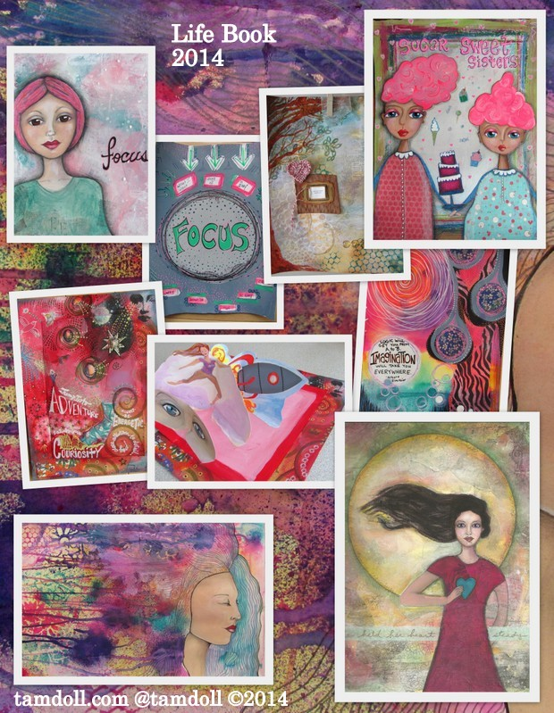 Drawing, Painting and Discipline with Tamdoll in Life Book 2014