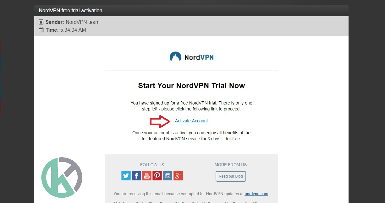 Nordvpn account not active
