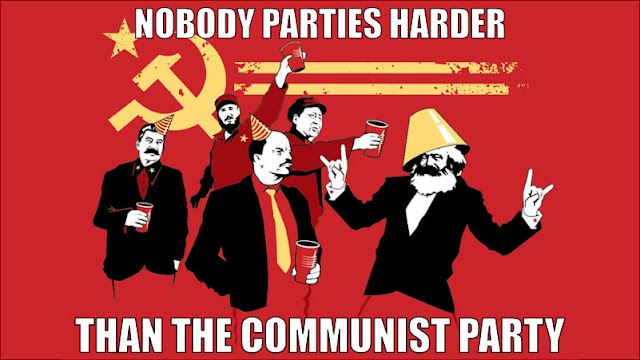 nobody parties harder than the communist party