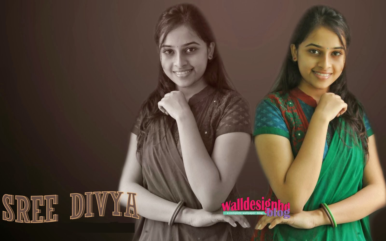 Wallpaper HD: Tamil actress Sri Divya