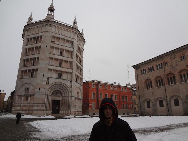 El baptisterio románico de Parma