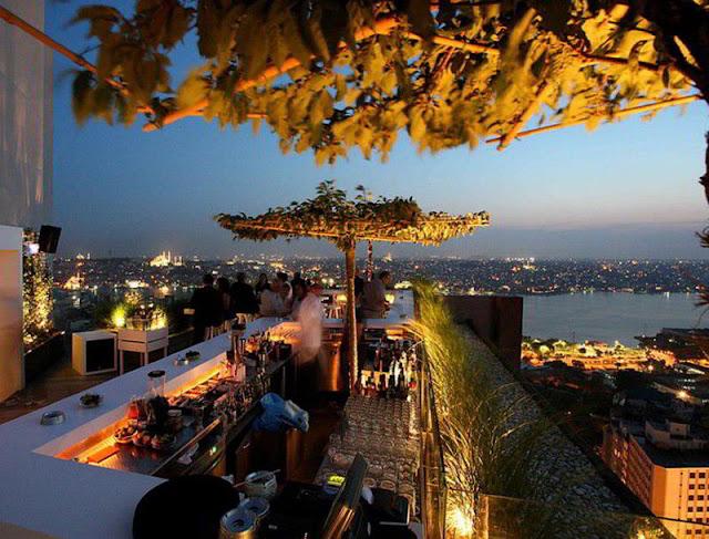 تراس فندق ذا مرمرة بيرا اسطنبول