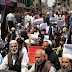 JKLF Protest held against conspiratorial plots, arrests, house arrests and other oppressive measures