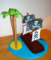 anniversaire gâteau pirate