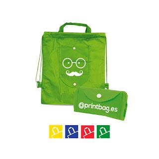 Mochilas para niños plegables personalizadas verdes