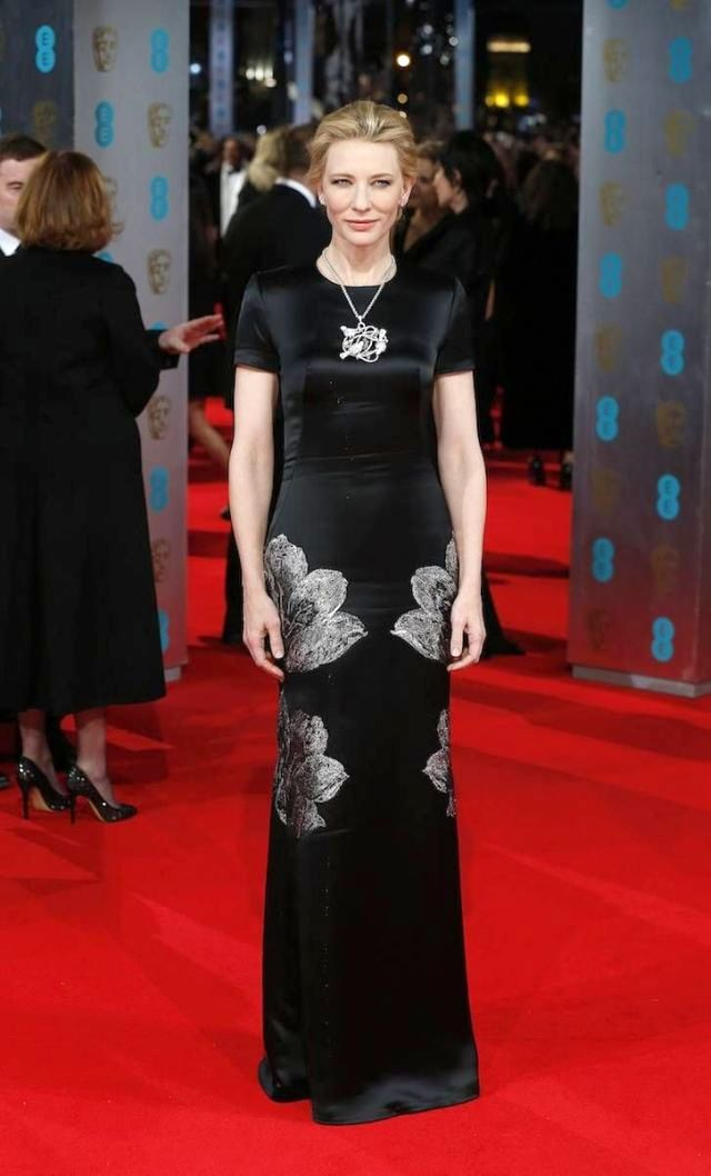 Cate Blanchett in Alexander McQueen at the BAFTA 2014