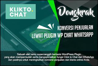 Tingkatkan konversi penjualan dengan wordpress plugin chat whatsapp