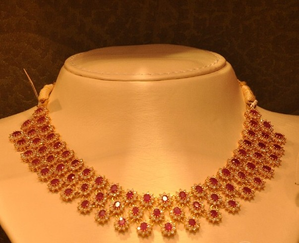 Malabar Gold Ruby Chokers Gallery Jewellery Designs