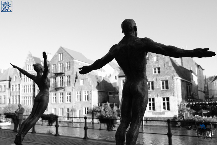 Le chameau Bleu - Blog Voyage Gand Belgique - Kraanlei - Gent - Balade au bord des canaux de Gand