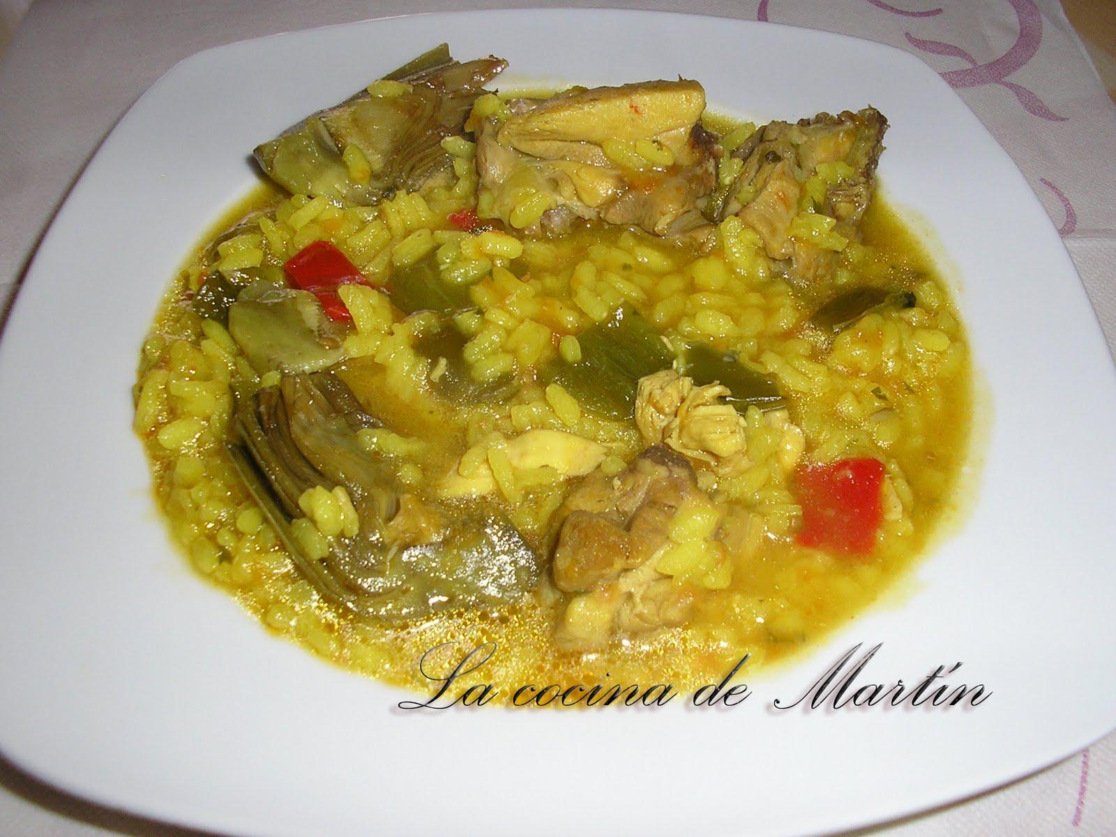 La cocina de mart n arroz caldoso con pollo y alcachofas - Arroz caldoso con costillas y alcachofas ...