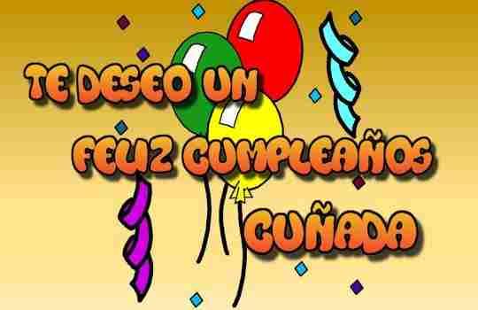 Tarjeta de cumpleaños para cuñadas ideales para regalos de felicitacion