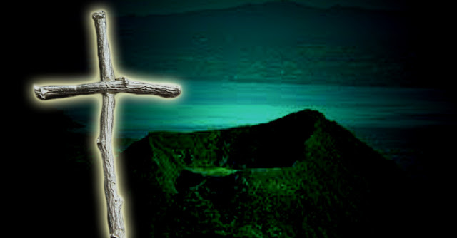 The mysterious cross was used to ward off the fiends of Taal Volcano.