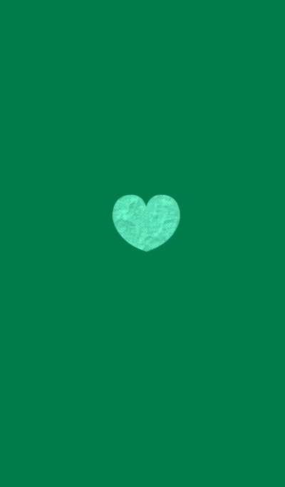 Fashionable Craft Heart Green Blue