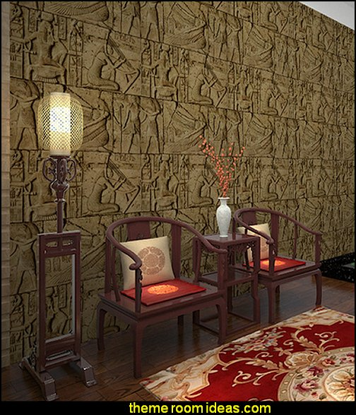 Decorating theme bedrooms maries manor egyptian theme for Egyptian mural wallpaper