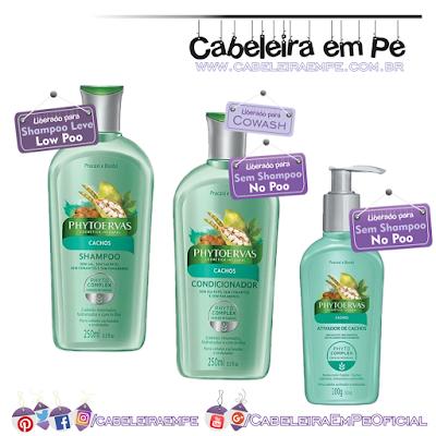 Composição Shampoo, condicionador e ativador de cachos Linha Cachos (Pracaxi e Baobá) - Phytoervas