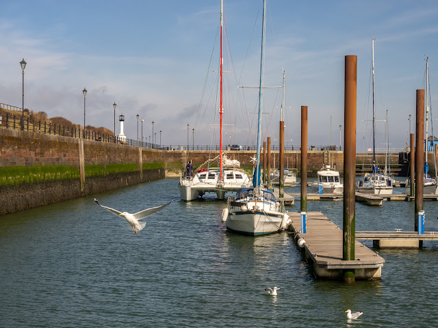 Photo of a sunny start to the day at Maryport Marina yesterday (Thursday)