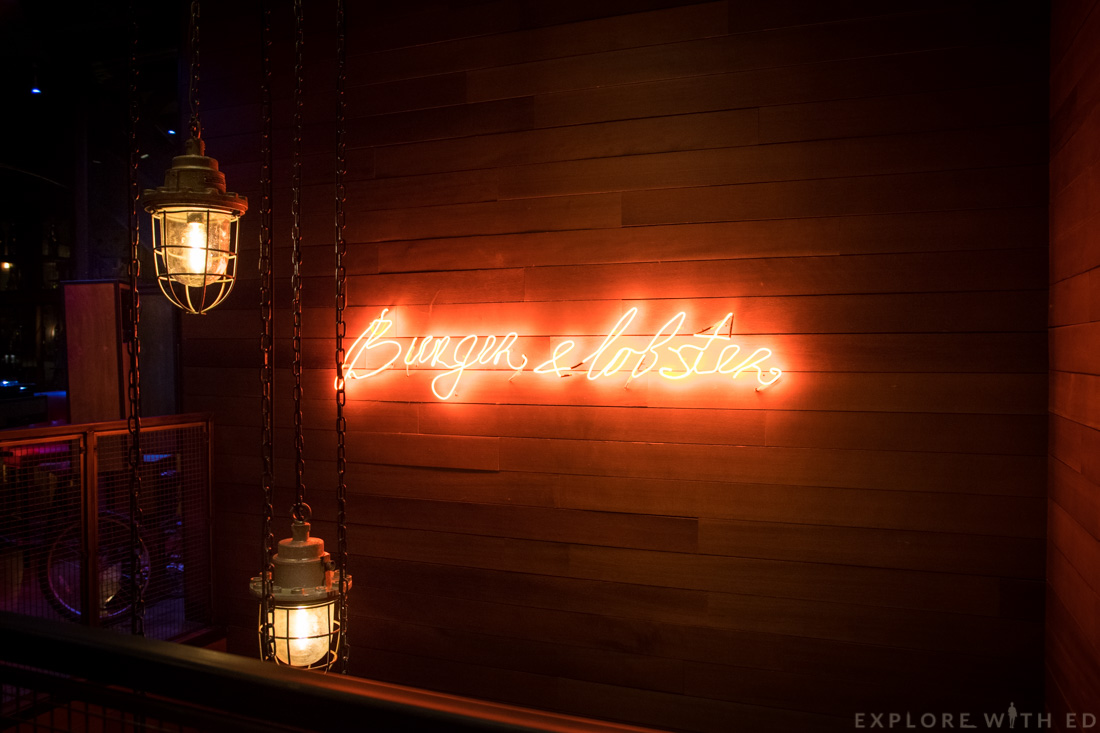 Inside Burger and Lobster Cardiff, Burger and Lobster Logo