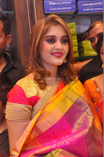 Surabhi looks stunning in Saree at Nakshatra Fashion Store Launch at Suchitra X Road 19.JPG