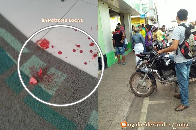 Urgente! Farmacêutico é alvejado com um tiro na boca durante tentativa de assalto no centro de Chapadinha