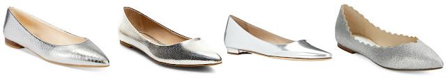 One of these pairs of silver flats is from Manolo Blahnik for $645 and the other three are under $70. Can you guess which one is the designer pair? Click the links below to see if you are correct!