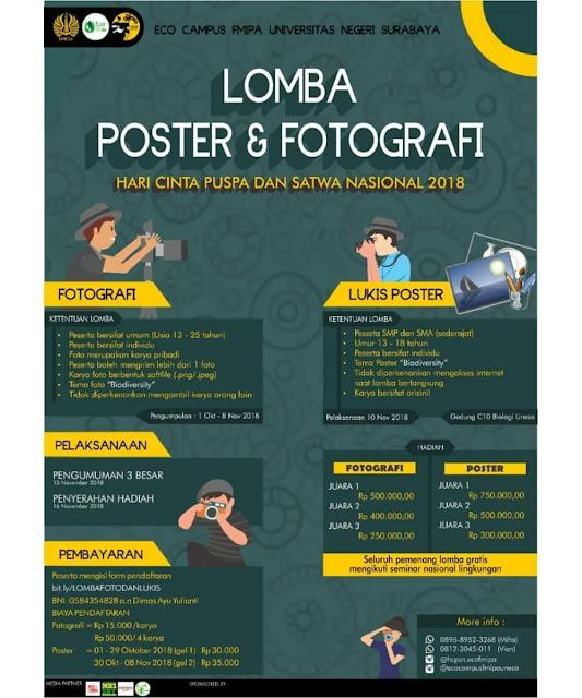Lomba Poster & Fotografi 2018 SMP-SMA-Mahasiswa