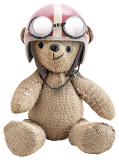 Pilot Bears Clipart.