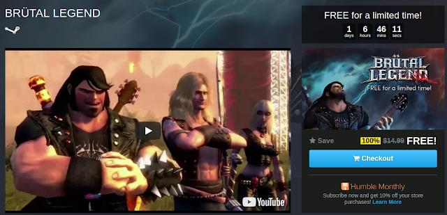 Brutal Legend Gratis para Steam
