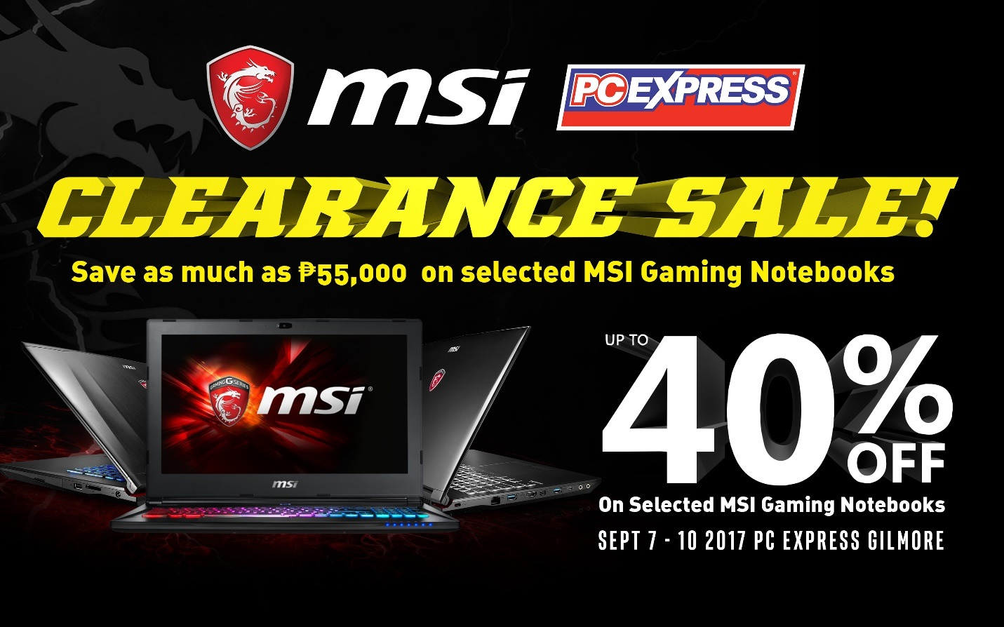 MSI Clearance Sale Exclusive to  PC Express Gilmore
