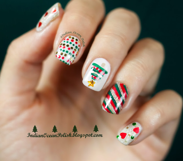 Indian Ocean Polish: Christmas 2013 Nail Art Ideas: Simple