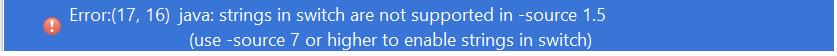 java string source error