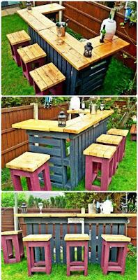 barra y bar para el jardin