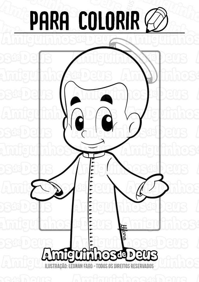 São Luís Orione desenho para colorir