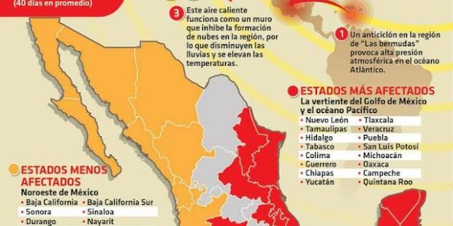En Guerrero  se espera menos lluvias y altas temperaturas por la Canícula.
