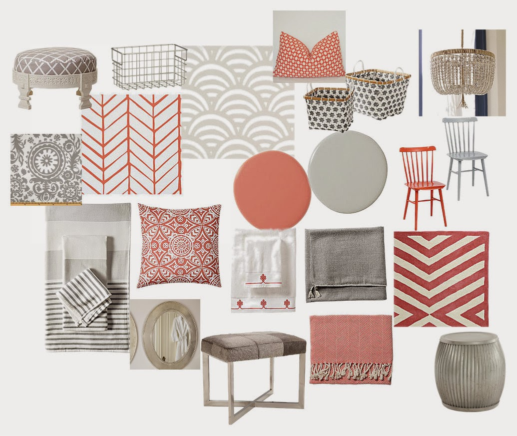 Coral And Gray Bedroom: Design Indulgence