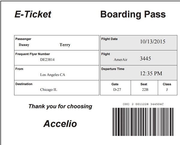Puzzle three is an Adobe PDF file containing a boarding pass