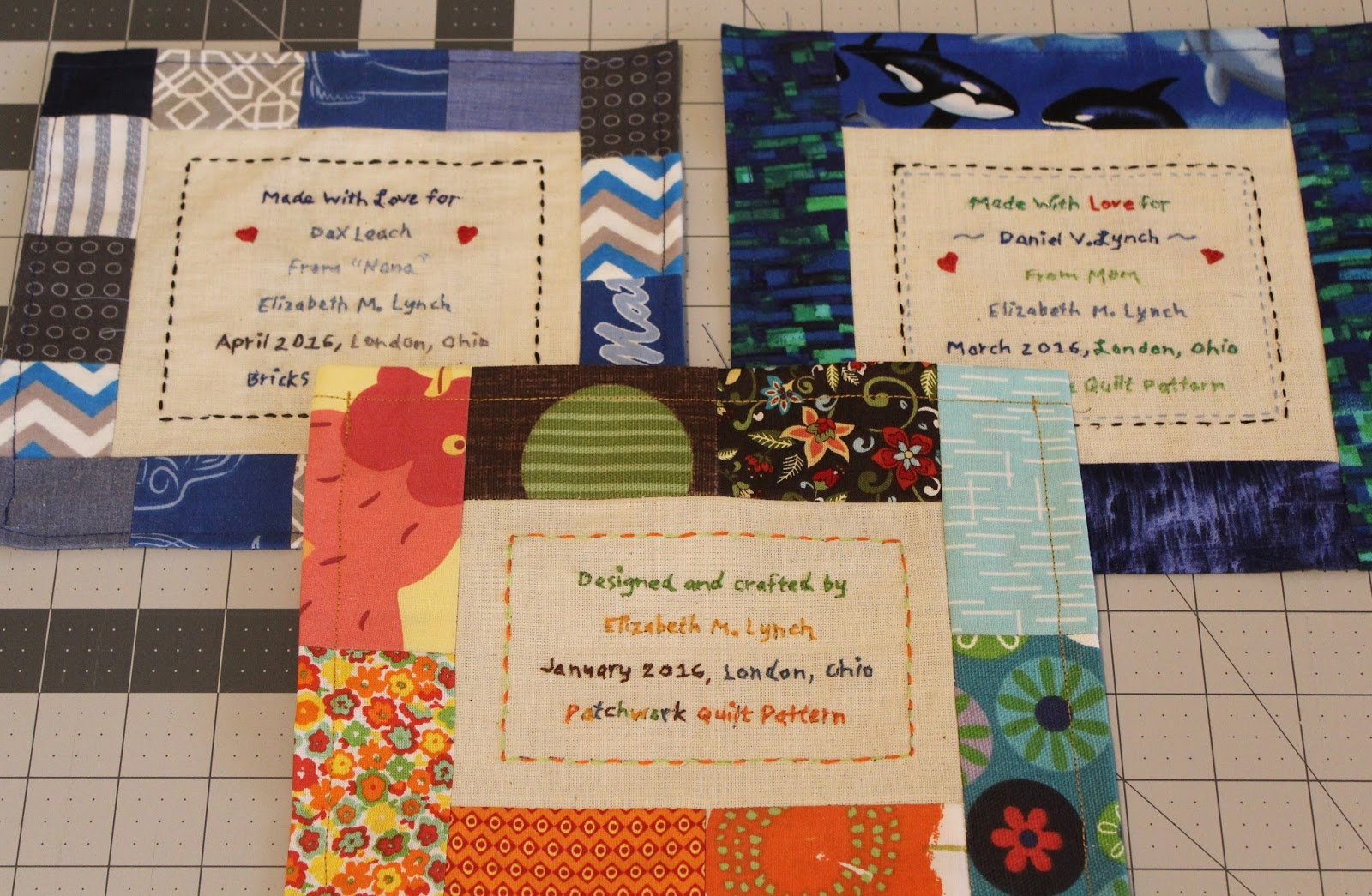 Ohio Thoughts~: How to Make a Quilt Label : examples of quilt labels - Adamdwight.com