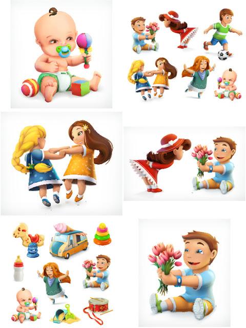 Trẻ em 3D dễ thương