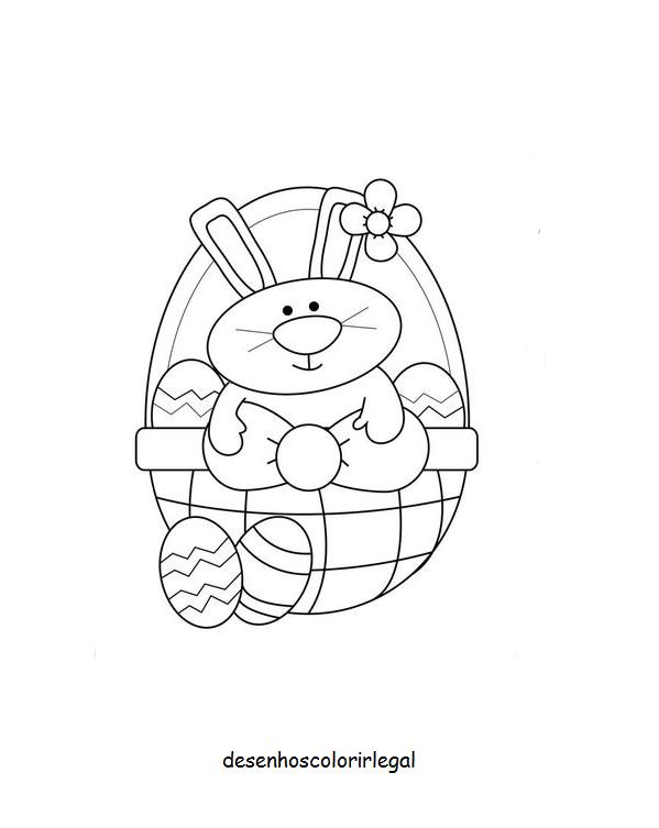 desenhos colorir legal desenho de coelho da pÁscoa traÇos simples